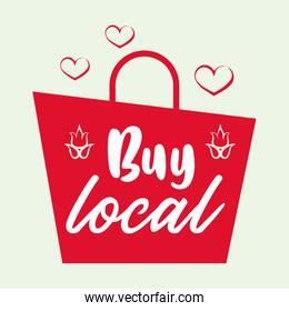 buy local cartel with shopping bag