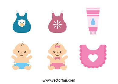 bundle of baby set icons