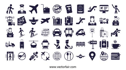 bundle of airport set icons