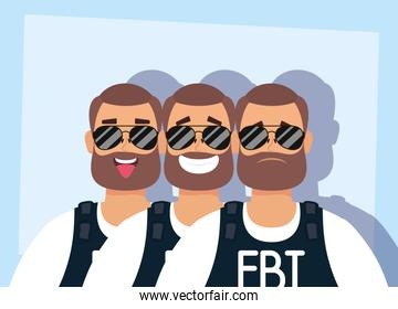 group of men with beard fbi agents