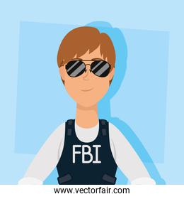 young woman fbi agent character