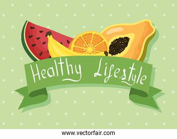 healthy lifestyle lettering and products