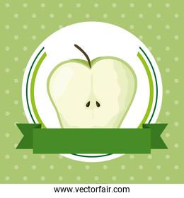 apple fresh fruit healthy food icon