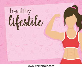 young woman athlete character healthy lifestyle