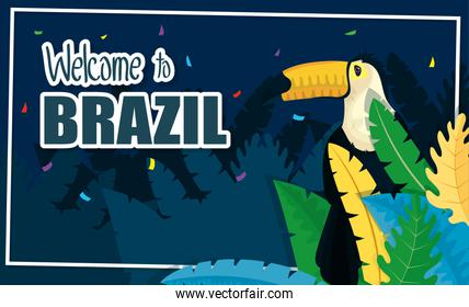 brazil carnival poster with toucan