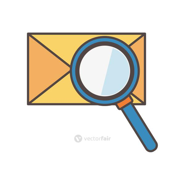 email message analysis social media icon