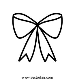 gift bow decoration ornament icon thick line