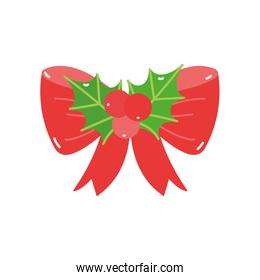 merry christmas holly berry bow ornament decoration