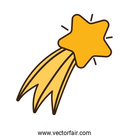 gold shooting star decoration ornament icon