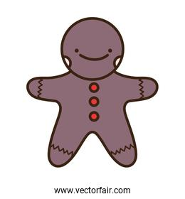 merry christmas celebration gingerbread man