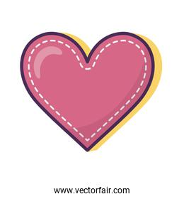 heart love romantic icon on white background