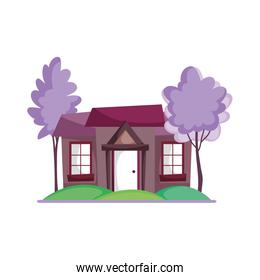 house facade trees nature scenery