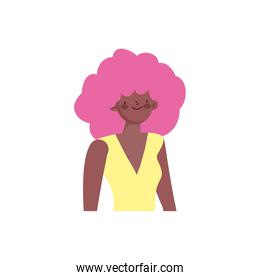 portrait young woman cartoon character