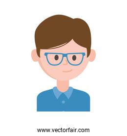 portrait young man character icon