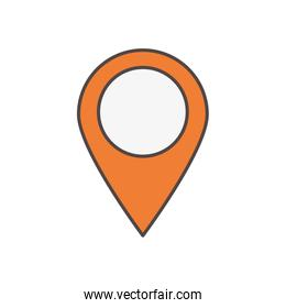 gps navigation pointer social media icon