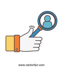 like with magnifier avatar social media icon