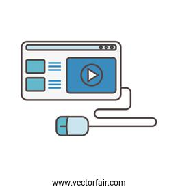 website content mouse video social media icon