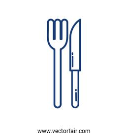 Isolated fork and knife icon vector design