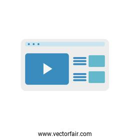 Isolated website icon vector design