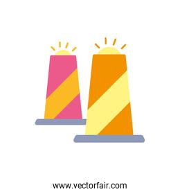 Isolated airport cones vector design