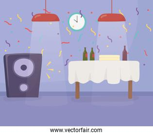 Party at home vector design