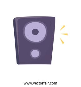 Isolated music speaker vector design
