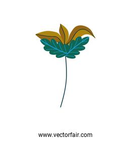 branch leaves foliage decoration icon