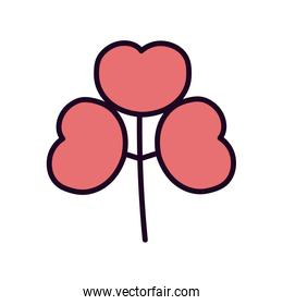 pink flowers nature decoration icon
