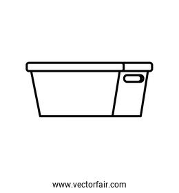 plastic bucket clean tool icon thick line