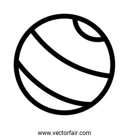 kids toy, rubber beach ball icon thick line