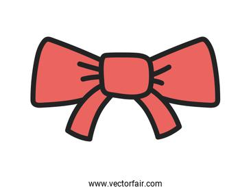 red gift bow ribbon decoration icon