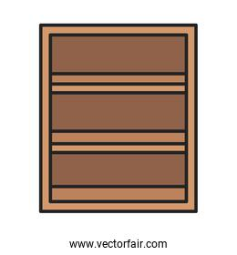 wooden shelf furniture storage icon