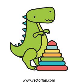 kids toy, plastic pyramid and green dinosaur toys