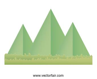 origami paper mountains grass nature landscape