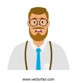 young man with beard avatar character