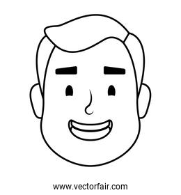 young man head avatar character icon