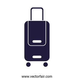 suitcase travel baggage isolated icon