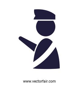 silhouette immigration officer human signal airport