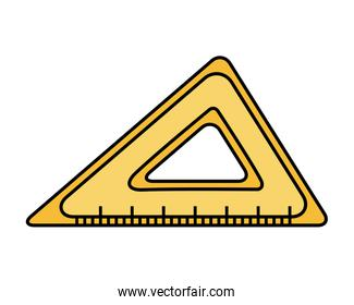 triangle rule school supply isolated icon
