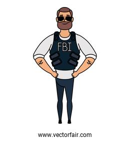 young man with beard fbi agent