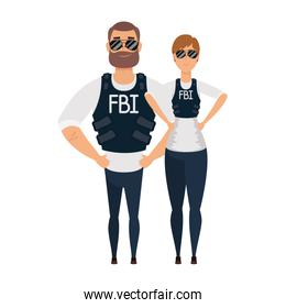 young couple fbi agents characters