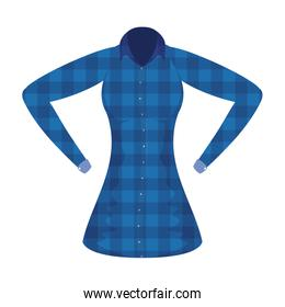 female shirt with checkered style