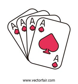 casino poker card with spade