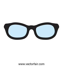 eyeglasses with black frame  accessory isolated icon