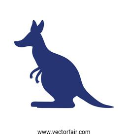 kangaroo wild animal silhouette icon