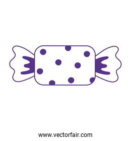 sweet wrapped candy icon design white background line style