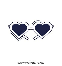 happy birthday, glasses shaped hearts accessory celebration party line style icon