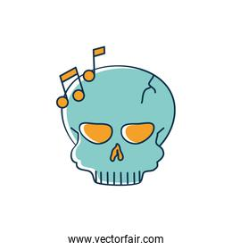 skull note musical melody sound music line and fill style