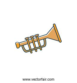 trumpet wind instrument melody sound music line and fill style