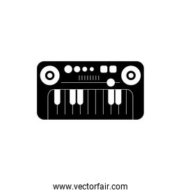 synthesizer instrument melody sound music silhouette style icon